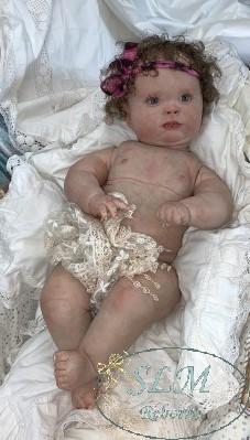 "Reborn Realborn Chubby Baby Girl 23/"" Awake Joseph Sculpt ~ Custom Order~"